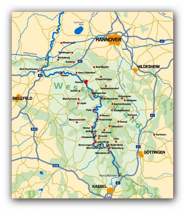 Der Weser Radweg Gasthaus Zur Post In Grohnde